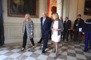 Marimar BLANCO, le ministre des Affaires étrangères espagnol José GARCIA-MARGALLO, et la ministre Hélène CONWAY-MOURET.
