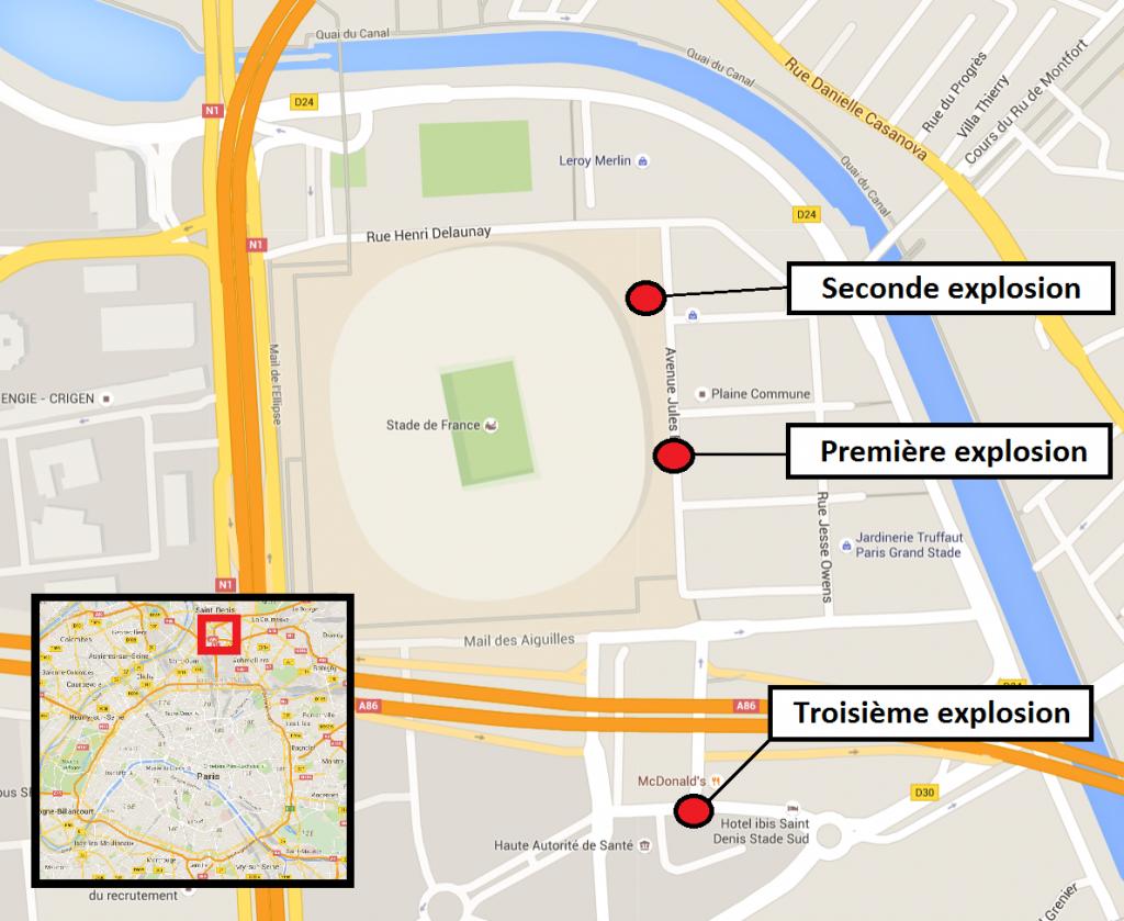 France attentats coordonn s paris et saint denis for Porte x stade de france